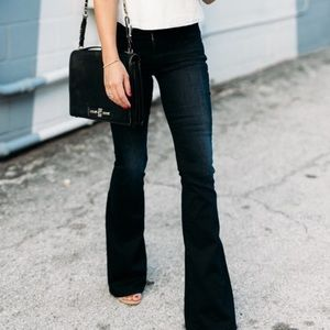 Anthropologie Level 99 Black Dahlia Flare Jeans 25